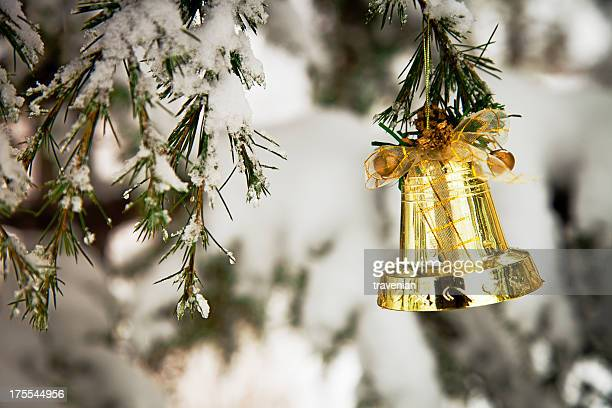 Christmas Bell On Pine Tree