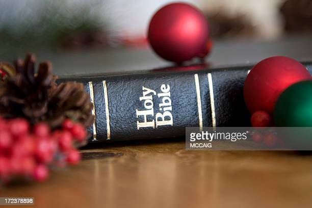 christmas bible #1 - religious christmas stock photos and pictures
