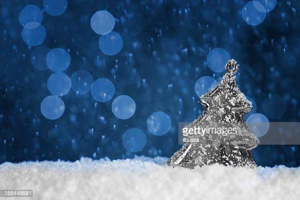 Weihnachten blauer Hintergrund mit Textfreiraum
