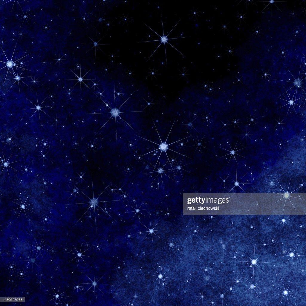 Sfondo di Natale blu con stelle : Foto stock