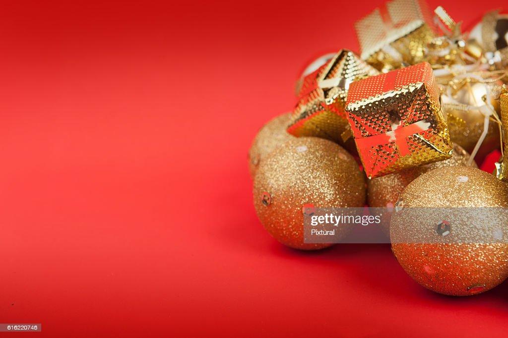 Christmas  box  with copy space : Bildbanksbilder