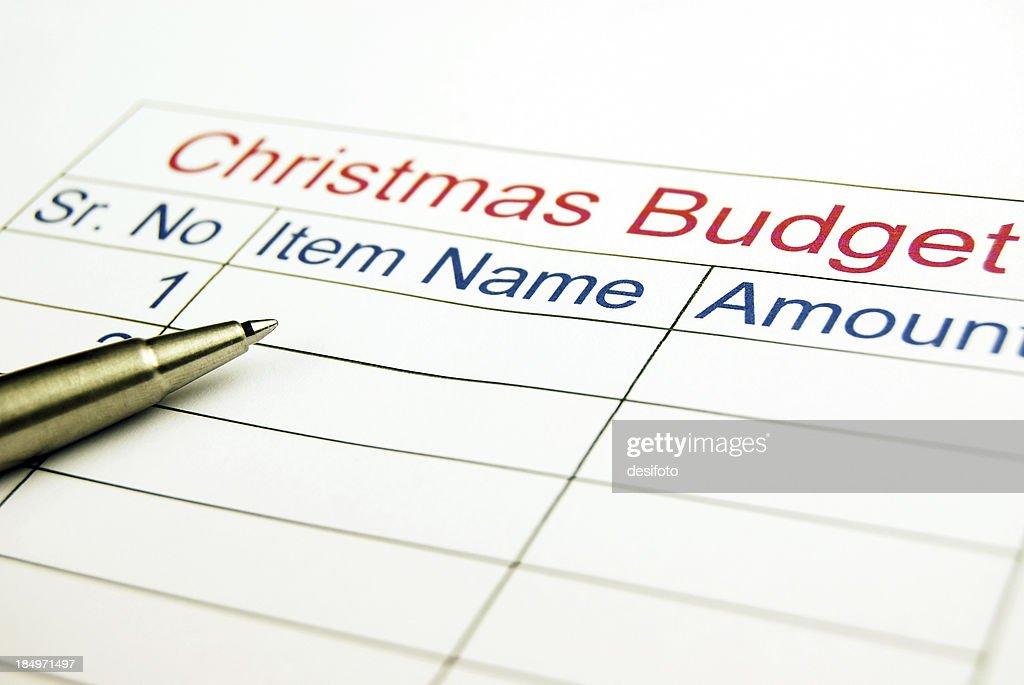 Christmas Budget : Stock Photo