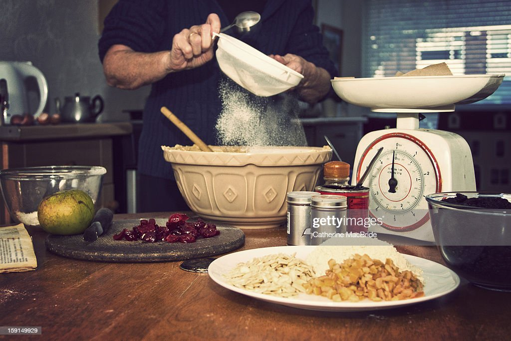 Christmas Cake Making... : Stock Photo