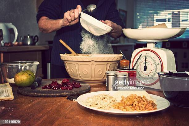 christmas cake making... - catherine macbride stock photos and pictures