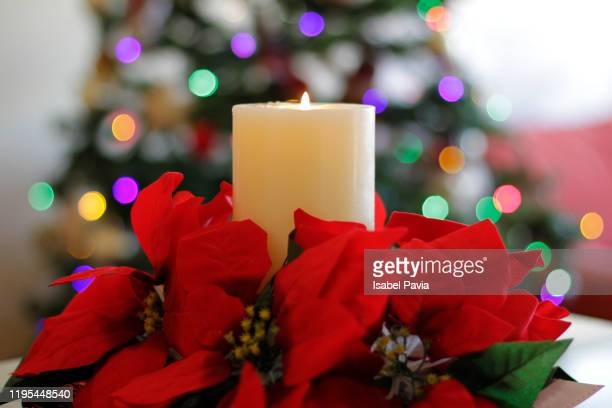 christmas candle - christmas decore candle stock pictures, royalty-free photos & images