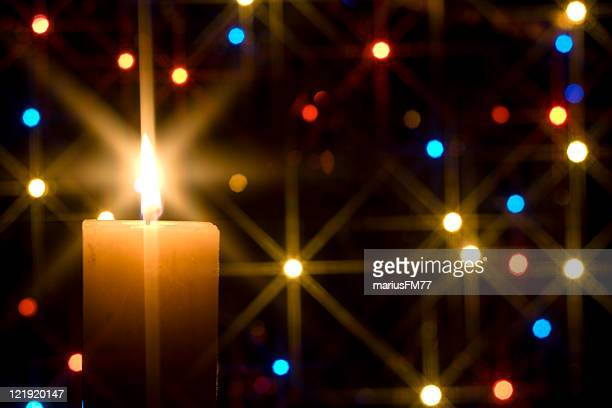 christmas candle - physical description stock pictures, royalty-free photos & images