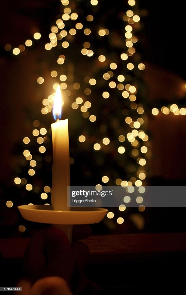 christmas candlelight : Stock Photo
