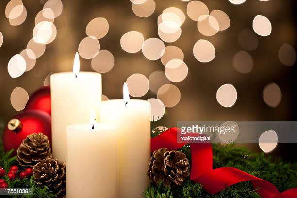 christmas candles - religious christmas stock photos and pictures