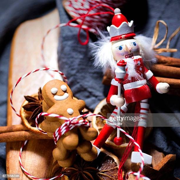 christmas candy cookie parade - gingerbread men - gingerbread man stock photos and pictures