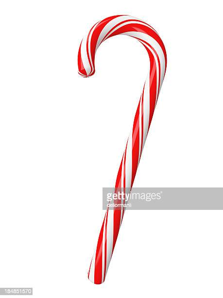 christmas candy with clipping path - rock stock pictures, royalty-free photos & images