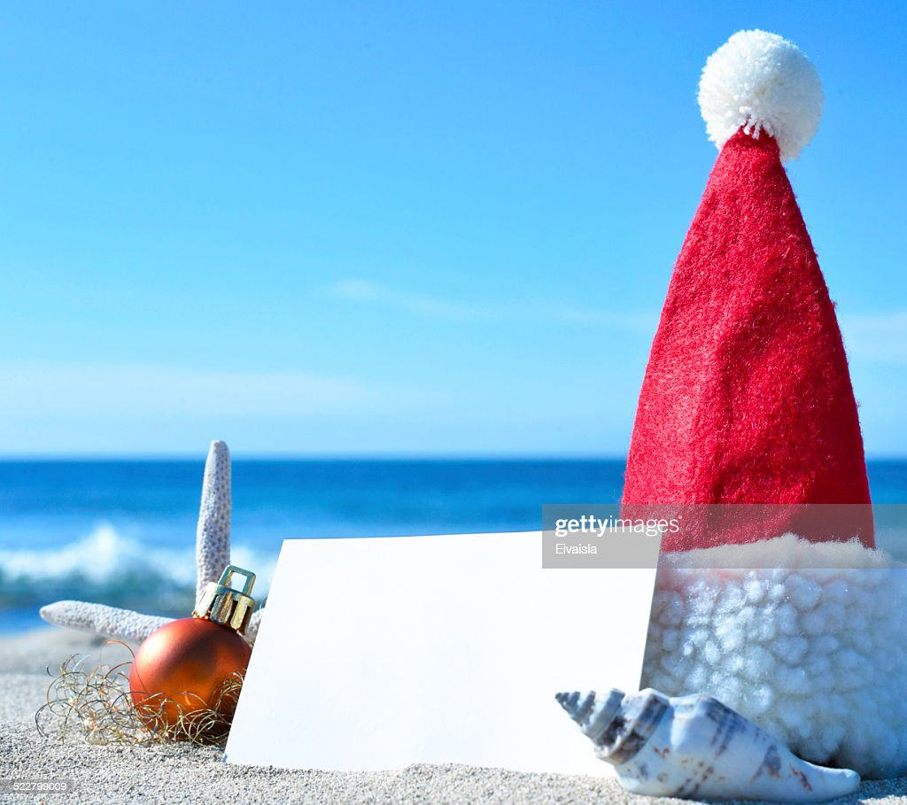 Christmas Card On The Beach Stock Photo | Getty Images