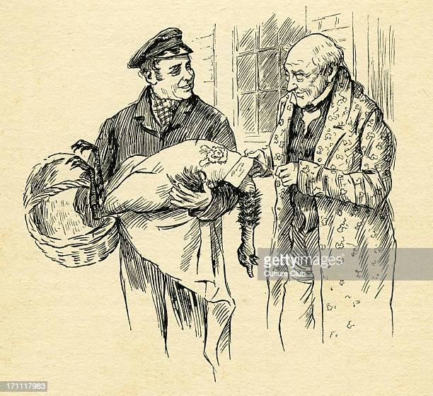 ' A Christmas Carol' by Charles Dickens Caption reads Turkey is delivered on Christmas Day from Mr Scrooge Originally published 1843 CD English...