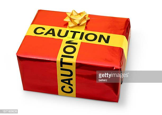 christmas caution - toy box stock pictures, royalty-free photos & images