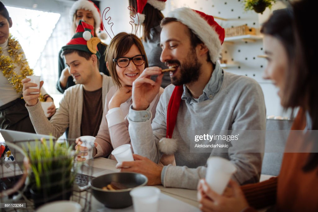 Christmas celebration in the office : Stock Photo