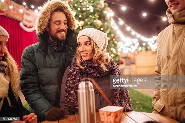 Weihnachten Feiern im Freien