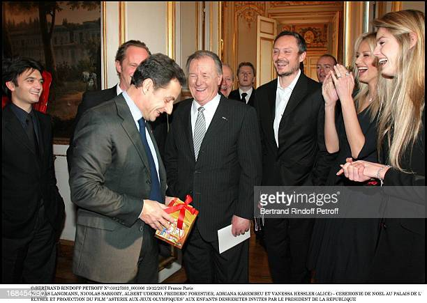 Christmas Ceremony With French President And Asterix At The Olympics Film Crew