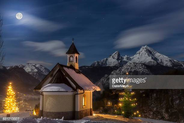 christmas chapel - religious christmas stock photos and pictures