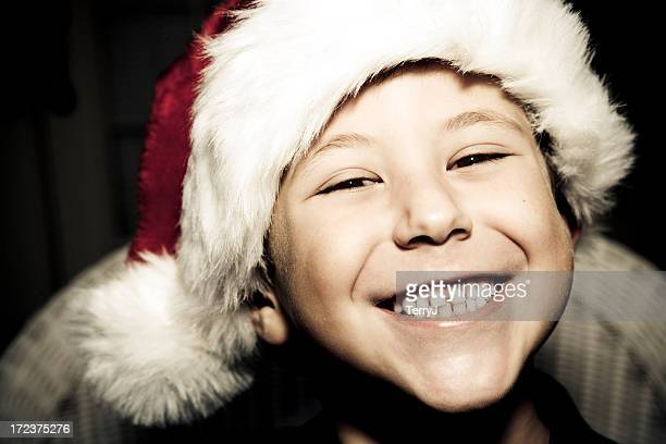 christmas cheer - santa face stock pictures, royalty-free photos & images