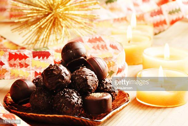 christmas chocolate truffles - 2000 2009 stock pictures, royalty-free photos & images
