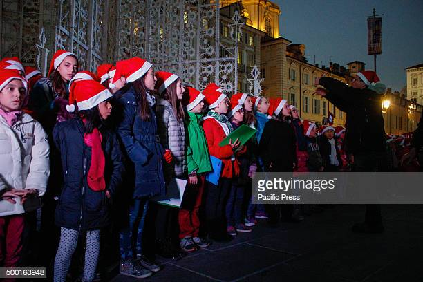 Christmas choir of children inaugurated the lighting of Christmas Tree in Piazza Castello and the opening of the first two windows of the advent...