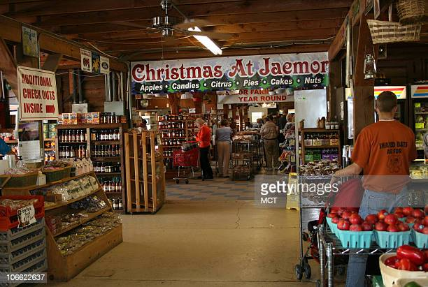 Christmas comes to Jaemar Farm Market in Alto near Lake Lanier Seasonal produce like apples oranges and nuts complement a range of country items like...
