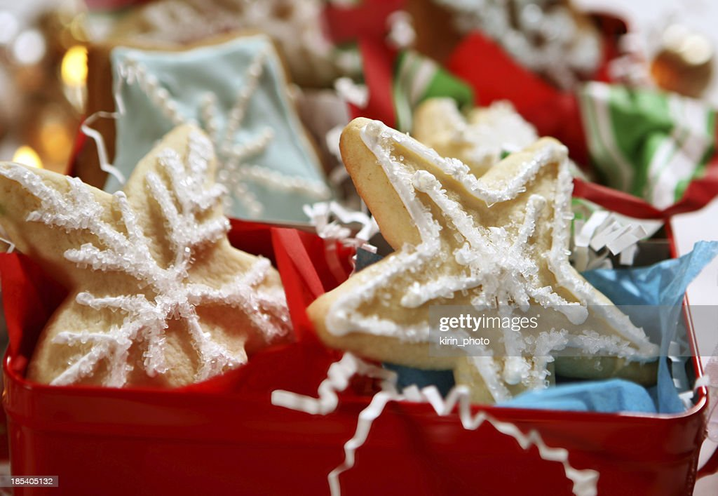 christmas cookie gift box  Stock Photo & Christmas Cookie Gift Box Stock Photo | Getty Images