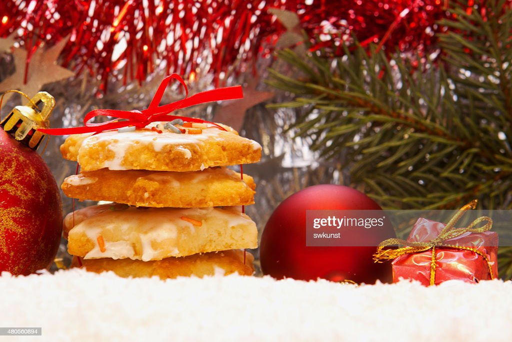 Christmas cookies and decoration. : Stock Photo