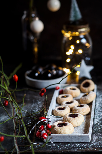 Christmas Cookies filled with jam - gettyimageskorea