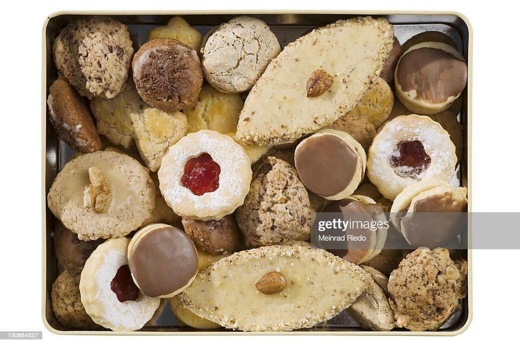 Christmas Tin Cookies.Christmas Cookies In A Tin High Res Stock Photo Getty Images