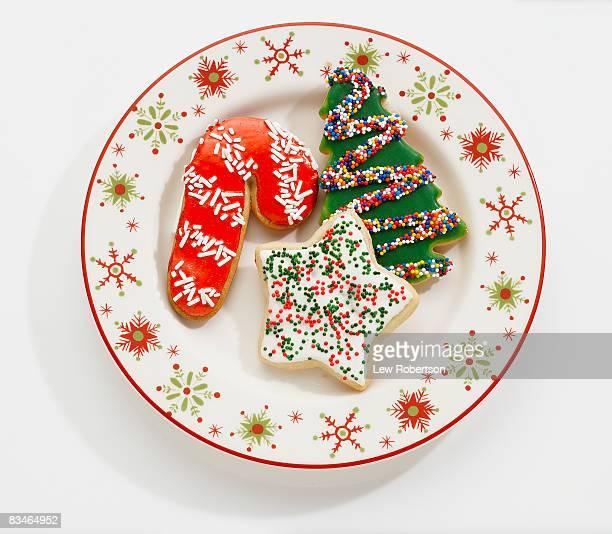 Christmas Cookies on Holiday Plate