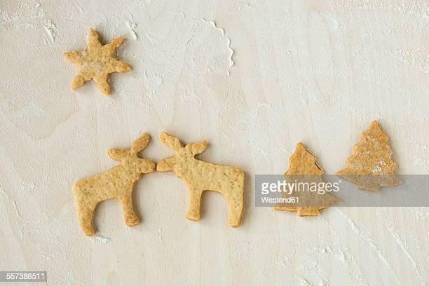 Christmas cookies on wood