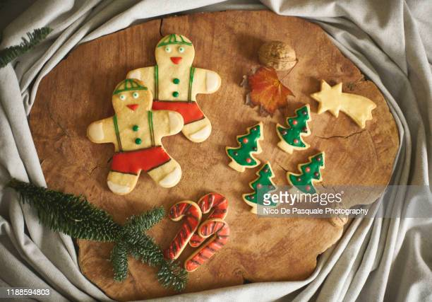christmas cookies - nico de pasquale photography stock pictures, royalty-free photos & images
