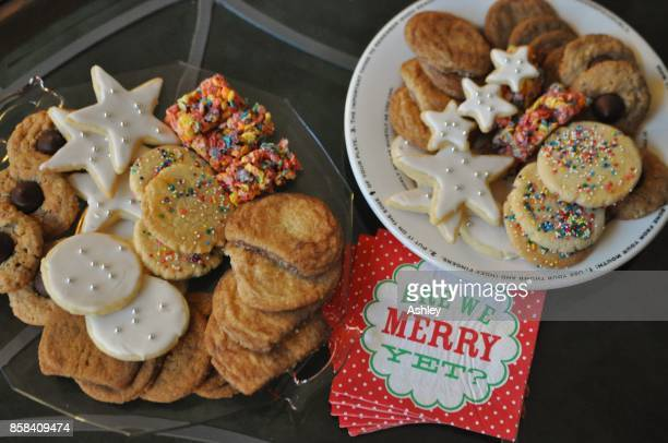 christmas cookies - snickerdoodle stock pictures, royalty-free photos & images