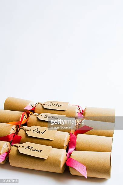 Christmas crackers for a family
