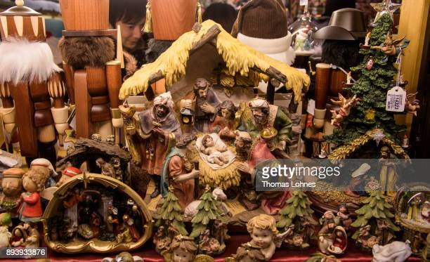 Christmas crib pictured at the annual Christmas market at Roemerberg on December 16 2017 in Frankfurt Germany Christmas markets are an essential...