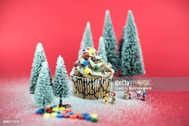christmas cupcake - josemanuelerre fotografías e imágenes de stock