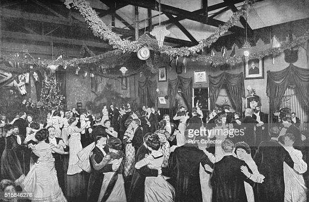 A Christmas dance at the German Gymnasium London circa 1902 The German Gymnasium was designed by Edward Gruning and completed in 1865 for the German...