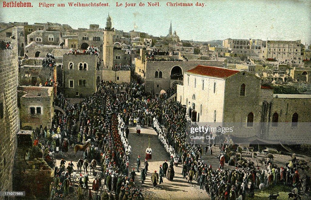 Christmas day in Bethlehem : News Photo