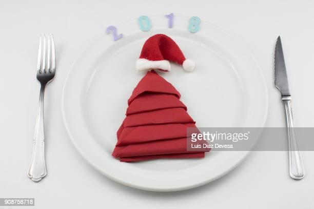Christmas day table setting