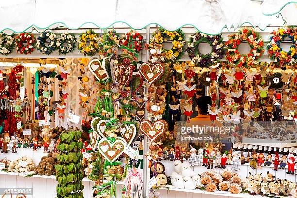 christmas deco - viktualienmarkt stock pictures, royalty-free photos & images