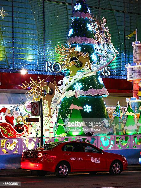 Christmas decorated with an artistic approach along Singapore famous shopping belt Orchard Road Taken from the other side of the road I included a...