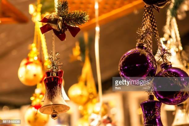 christmas decoration at a christmas market - dezember stock-fotos und bilder