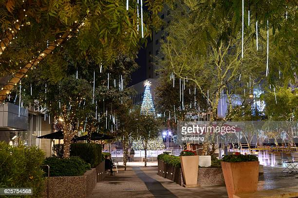 christmas decoration at cityscape in downtown phoenix - arizona christmas stock pictures, royalty-free photos & images