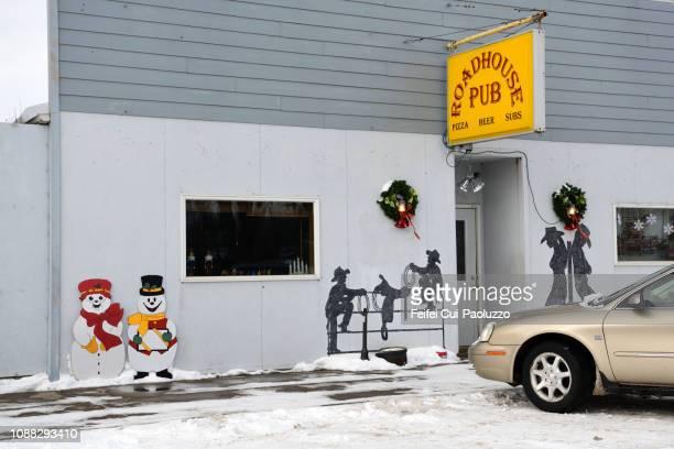 Christmas decoration at Kimball, South Dakota, USA