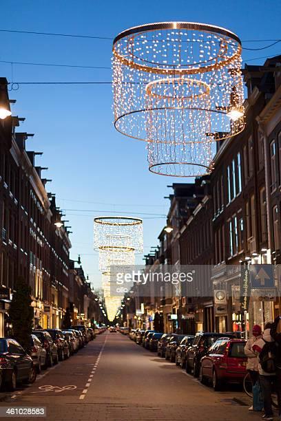 Décoration de Noël à P.C.  Hooftstraat, Amsterdam.