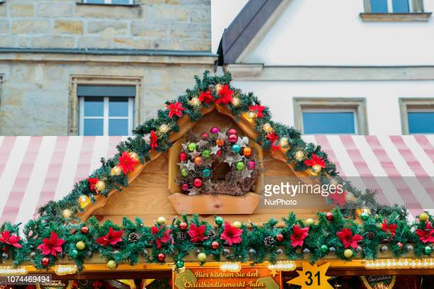 Christmas decoration Christmas Market in the Northern Bavarian town of Bayreuth