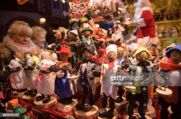 Christmas decoration 'Frankfurter Quetschemaennche' made of prune pictured at the annual Christmas market at Roemerberg on December 16 2017 in...