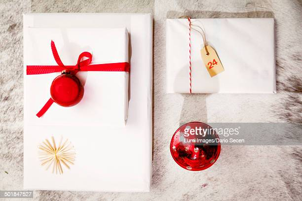 Christmas decoration, gift parcels, Munich, Bavaria, Germany