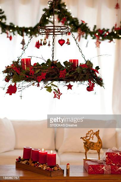 Christmas decoration in living room