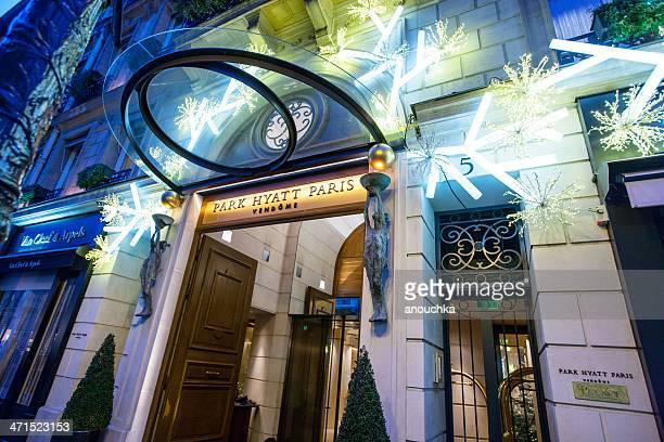 Christmas Decoration of Park Hyatt Paris, Place Vendome